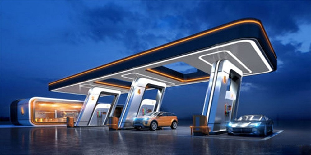 سایبان پمپ بنزین
